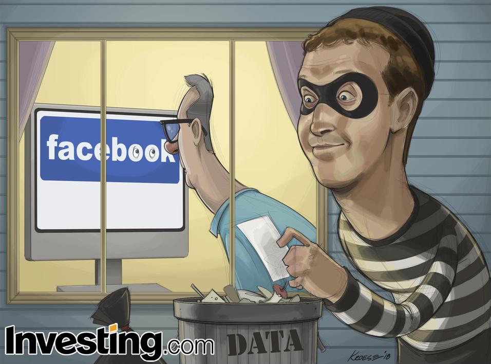 英为财情Investing.com每周漫画《用户数据通过第三方被泄露丑闻持续发酵》