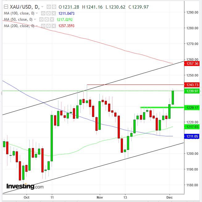 黄金/美元日线图