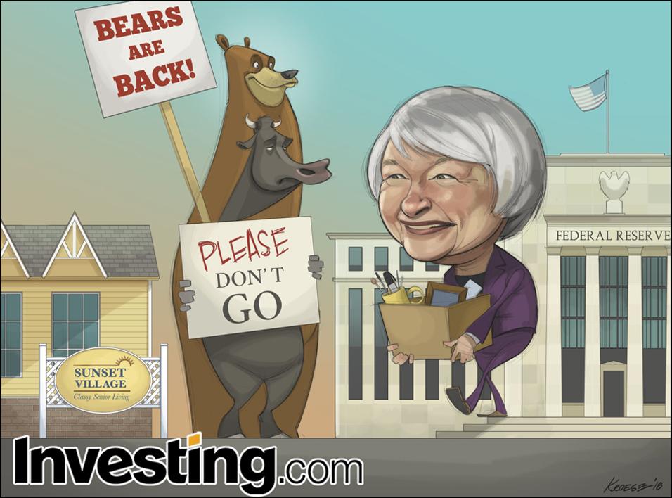 英为财情Investing.com每周漫画《美联储主席耶伦任期即将结束,功成身退挥手说再见》