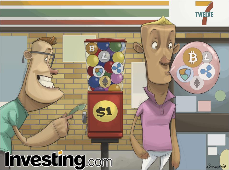 英为财情Investing.com每周漫画《早该知道泡沫 一触就破 就像加密货币 不胜折磨》