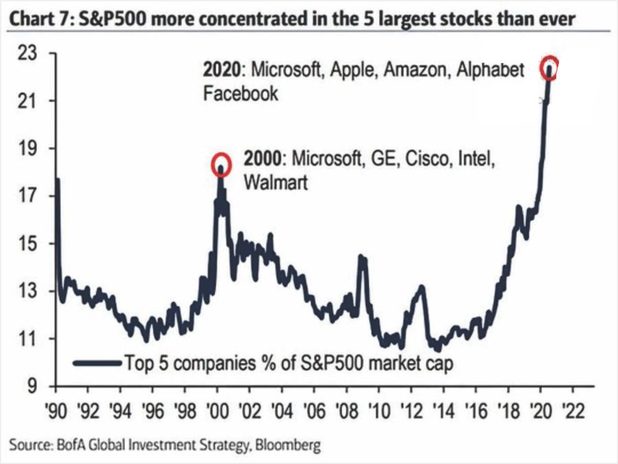 美股TOP 5公司市值