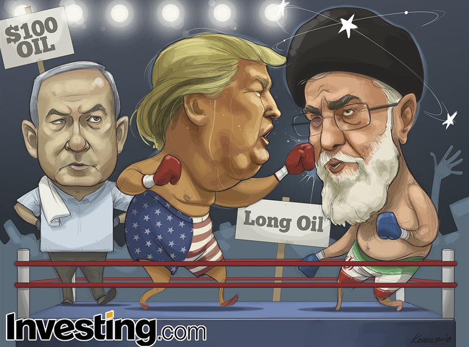 英为财情Investing.com每周漫画《特朗普撕毁伊朗核协议 油价将飞涨至100美元?》