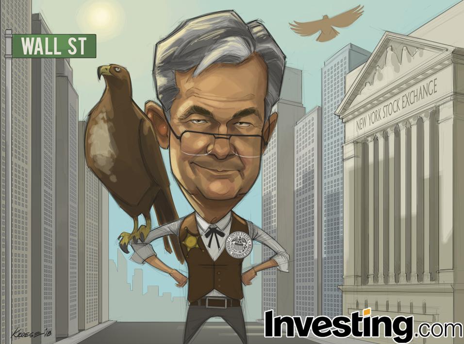 英为财情Investing.com每周漫画《鲍威尔的鹰派证词使市场对于美联储加息的恐惧再次复苏》